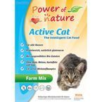 Power of Nature Active Cat Farm Mix kurczak, łosoś, jagnięcina, brązowy ryż 12kg