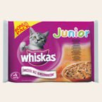 Whiskas Junior w sosie saszetki 4x100g