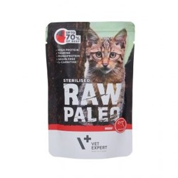 Vet Expert Raw Paleo SterIlised Beef Meat 100g